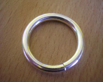 Round ring 30 mm x 0.35 mm silver plated