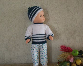 clothes for 40 cm dolls, pants, sweater, hat, compatible Michel fashions and work
