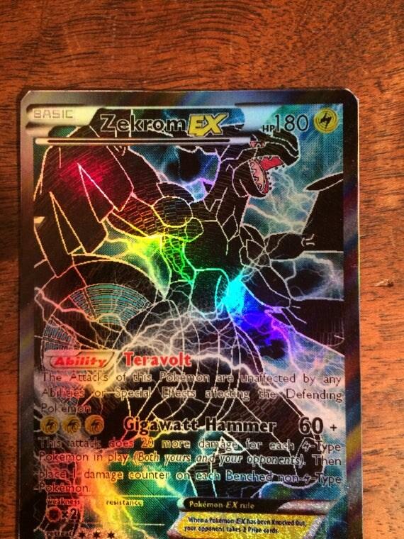 zekrom shadow gx ex card orica proxy