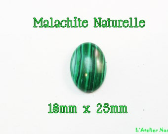 Natural 18mm x 25 mm oval Malachite cabochon