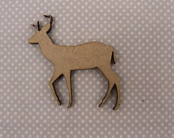 About wooden embellishment: deer