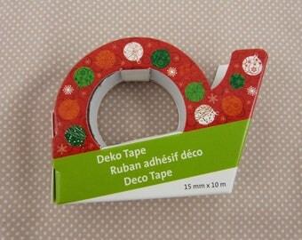 Masking tape roll Christmas balls