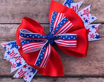 Patriotic Hair Bow