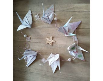Crane origami pendant Garland