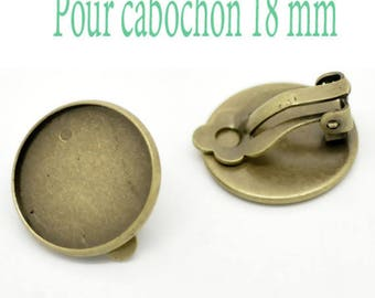 18 MM/10 Supports earring clips for cabochon within 15 days