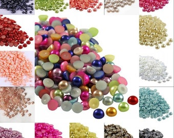 19 bags of 2000 cabochon acrylic half round 2 mm within 15 days