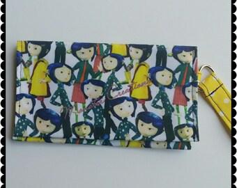 Phone Wristlet - Coraline inspired print