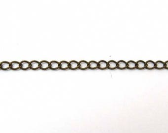 3, 2 x 4 oval link chain, 3mm bronze 35cm