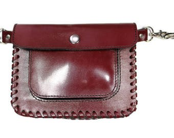 Leather hip pouch Leather fanny pack Hip bag leather Leather waist bag Bum bag leather  Leather pouch belt Leather waist pack Festival bag