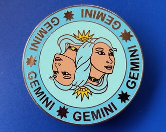 Gemini Hard Enamel Pin