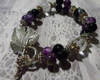 Brazilian Agate - Onyx - Zebra Jasper bracelet