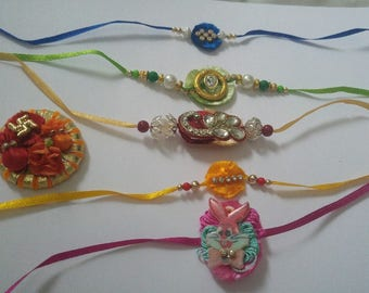 Free shipping handmade Rakhi/ band for brother/ friendship band / Rakhi thread