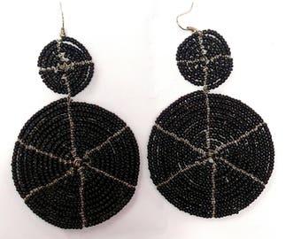 Beaded Earrings, Seed Bead Earrings, Beaded Tassel Earrings, Tassel Earrings, Bead Earrings, Beaded Dangle Earrings, Boho Earrings, Earrings
