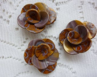 COLORS OF FALL FLOWERS POLYMER CLAY CREATION