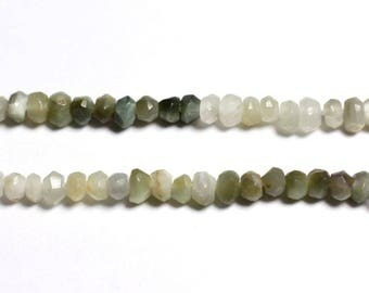 10pc - beads - faceted Rondelle 2.5x1.5mm cat's eye Chrysoberyl - 4558550090423