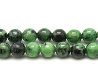 Stone - Ruby-Zoisite beads 10pc - 6mm 4558550028075 balls