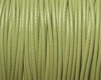 10 m - Cotton 0.8 mm 4558550027023 lime green wax cord