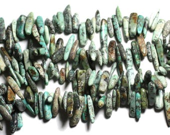 Bag 10pc - stone beads - 12-22mm 4558550035318 African Turquoise beads