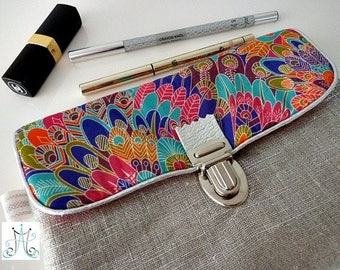 Trousse Lin argenté attache cartable - Liberty Eben
