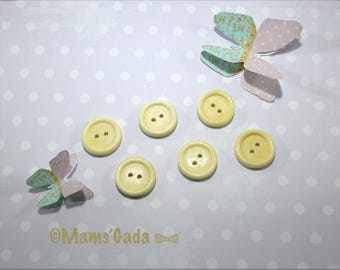 Set of 12 buttons 2 holes wood sewing/scrapbooking/DIY Ø 20mm REF:BO natural / 54