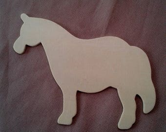 wooden horse painting or coloring pencils colors markers or paint