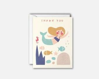 Mermaid Thank You pk of 5 cards by James Ellis