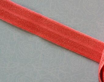 ruban élastique rose saumon