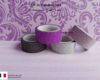 Set of 4 masking tape.