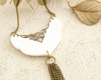 Stamped necklace - Ophelia Collection