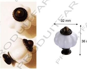 8 handle pumpkin color porcelain 32 x 36 mm kitchen furniture bathroom dresser drawer.