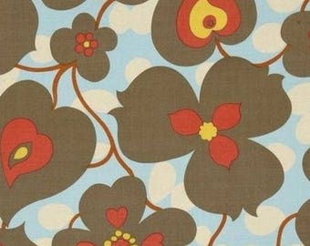 Large patchwork fabric Amy Butler Lotus flowers