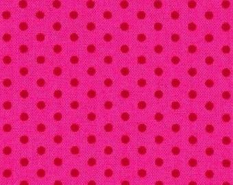 Fabric pink patchwork polka dot spot on Kaufman