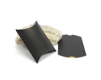 5 pouches gift form Berlingot Cartonnees - 7 x 7 cm - color black