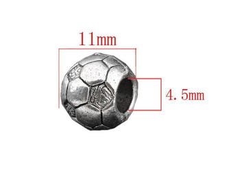 Soccer ball silver Pearl model b size 11 mm.