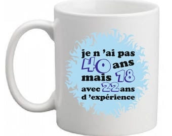 CERAMIC 40 YEARS ANNIVERSARY MUG MAN