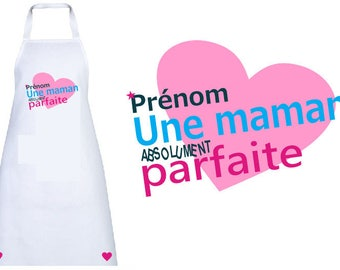 """APRON of cooking adult personalized """"a perfect MOM"""" with the name of your"""