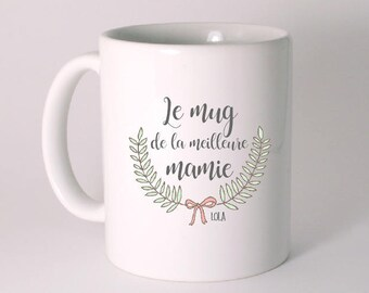THE MUG of the best Grandma personalized with child's name