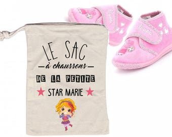 "BAG has ""Little STAR"" personalized SLIPPERS"