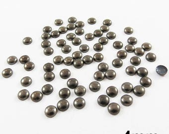Round Thermo nail - aged Black - 4mm - x 72pcs
