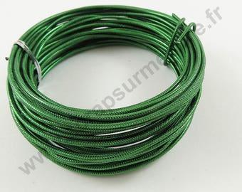 Aluminum wire Ø 2 mm - Green - x 10 m