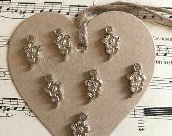 Flowers charms lot