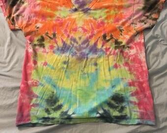 Large tie dye tee shirt