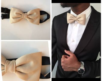 Double bow tie Beige man