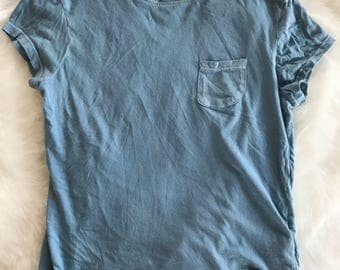 Blue short sleeved t-shirt