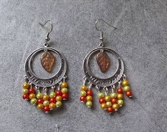 Dangling earrings with autumn colors