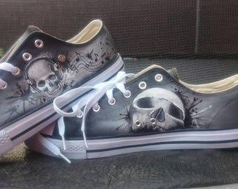 music Skull shoes