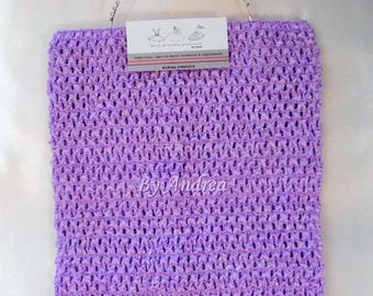 Strapless tutu 6/9 years, 1 Lavender tulle dress for stretchable crochet top