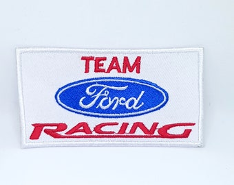 542# Vintage Team Ford Racing Formula 1 Biker Embroidered Iron /Sew on Patch