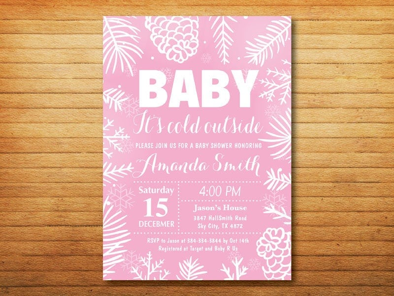 Winter Baby Shower Invitation. Baby its cold outside Baby Shower ...