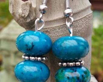 Chrysocolla earrings
